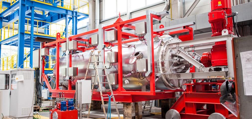 Horizontal dryer production Process technology Motorised apparatuses