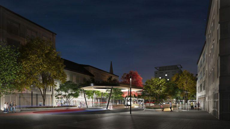 Neugestaltung Kaiser-Josef-Platz Beleuchtung